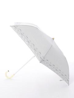 【korko(コルコ)】晴雨兼用の刺繍日傘2段折り畳みタイプ【バードソング】