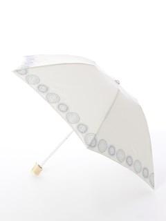 【korko(コルコ)】晴雨兼用の刺繍日傘ミニタイプ【サンシャイン】