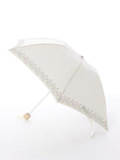 【korko(コルコ)】晴雨兼用の刺繍日傘ミニタイプ【ハンマルビー湖街の風景】