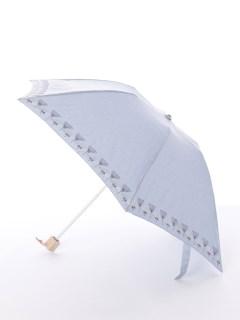 【korko(コルコ)】晴雨兼用の刺繍日傘ミニタイプ【ウルリクスダール城の庭園】