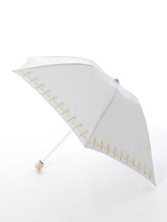【korko(コルコ)】晴雨兼用の刺繍日傘ミニタイプ【菜の花】