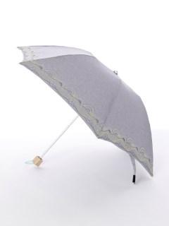【korko(コルコ)】晴雨兼用の刺繍日傘ミニタイプ【ブルクスヴァナラの山脈】