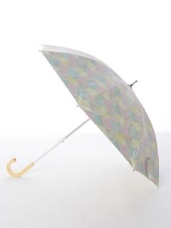 【korko(コルコ)】晴雨兼用のプリント日傘ショートタイプ【パステル】