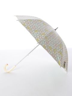 【korko(コルコ)】晴雨兼用のプリント日傘ショートタイプ【トライアングル】