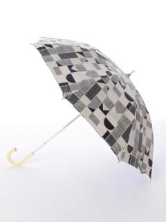【korko(コルコ)】晴雨兼用のプリント日傘ショートタイプ【ジオメトリック】