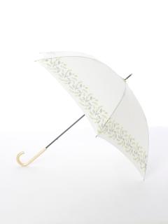 【tenoe(テノエ)】雨晴兼用手開き長傘【ミモザのブーケ】