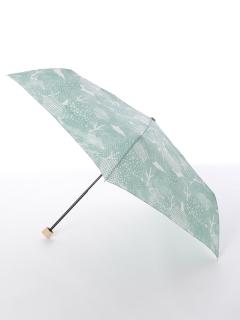 【tenoe(テノエ)】雨晴兼用折り畳み傘【もりもりの森】