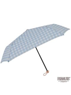 【PEANUTS】軽量キャラクター折りたたみ傘【かくれんぼチェック】