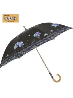 【PEANUTS】晴雨兼用日傘ショートタイプスヌーピー【スクラッチアート】