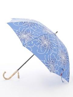 【nugoo】晴雨兼用日傘 ショート/乱菊(薄青)