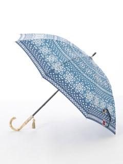 【nugoo】晴雨兼用日傘 ショート/雪花もよう