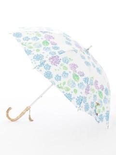 【nugoo】晴雨兼用日傘 ショート/あじさい小道