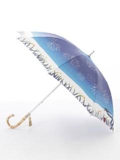 【nugoo】晴雨兼用日傘 ショート/蛍と花火