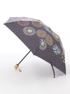 【nugoo】晴雨兼用日傘 折たたみ/花火小紋