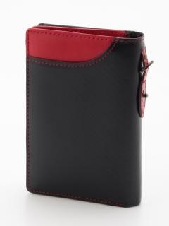 カーボンレザーL型ファスナー財布