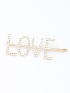 LOVEメッセージヘアピン