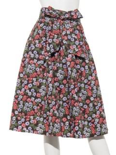 マルチカラーフローラルスカート