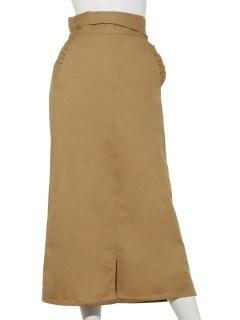 ウエストギャザーポケットフリルスカート