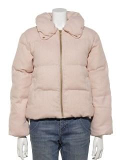 ボリューム襟中綿コート
