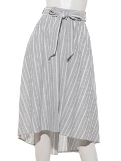 【FABIA】ストライプバックロングスカート