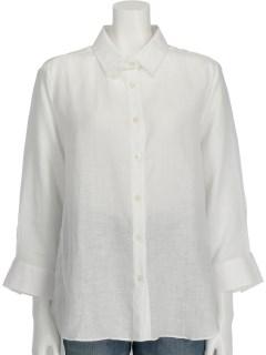 麻ロング七分袖シャツ
