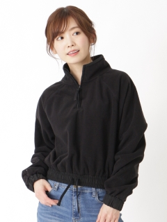 1/4 ZIP CROP POLAR FLEECE PULLOVER