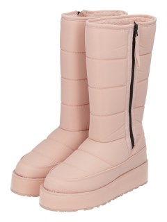 QUILTED TALL BOOT WITH SIDE ZIP