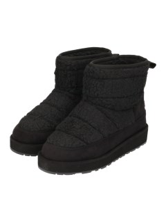 QUILTED SHERPA PANELLED SHORT BOOT WITH BACK TAB
