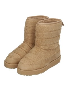 QUILTED SHERPA PANELLED MID BOOT WITH BACK TAB