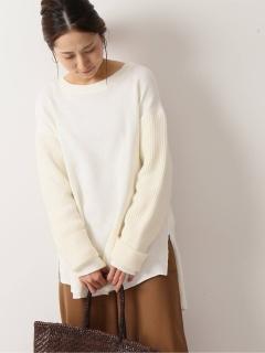【JEAN_NERET】 サーマルコンビ レイヤードセーター
