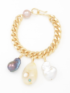 【L'ESSAGE JOURNAL STANDARD】LIZZIE FORTUNATO Baroque Charm Bracelet