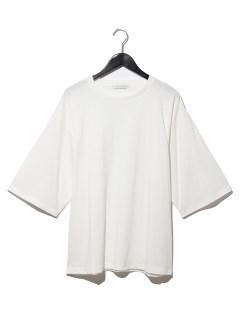 40/2キョウネン クルーネック エルボースリーブ Tシャツ