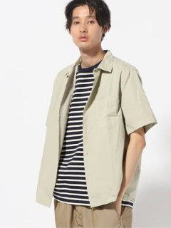 【SAVE KHAKI UNITED】POPLIN SIMPLE CAMP SHIRT