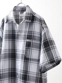 【Cal Top】WHITE BASE マドラスチェックシャツ