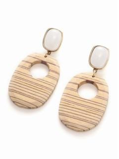 【V+J】striped wood drop