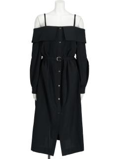 Off-Shoulder Long Shirt OP