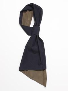 【EBLOA】ラッフルバイカラースカーフ