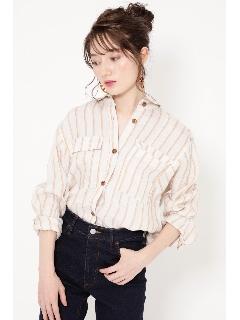 ビッグポケットリネンシャツ