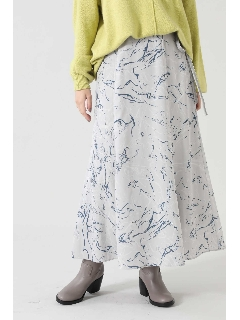 プリントフレアスカート