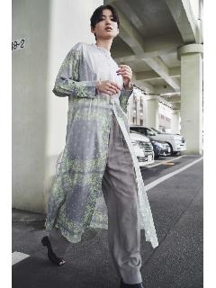 バンダナプリントロングドレスシャツ