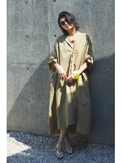 2wayリラックススモックコートドレス