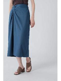 ねじりディテールストレートスカート