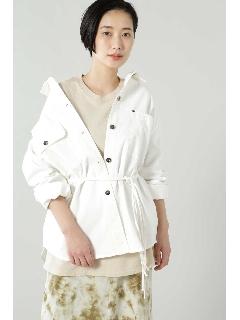 ウエストベルト付シャツジャケット