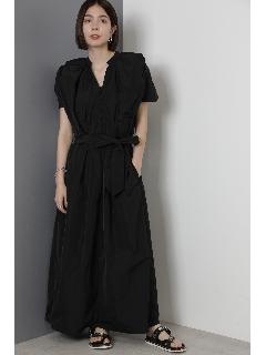 ギャザーデザインロングドレス