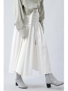 ベルト付きボリュームスカート