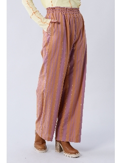 マルチストライプ柄パンツ