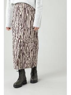 オーバーラップラインミディスカート