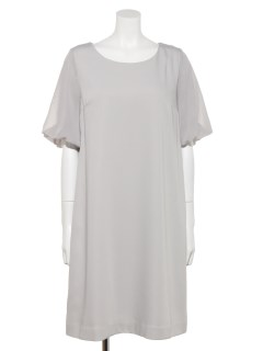 【LDprime】バックリボン5分袖ドレス