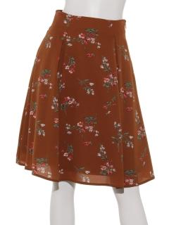 【Rew de Rew】花柄バックスピンドールスカート