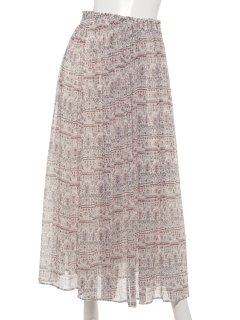 【shopDADA】オリエンタル柄ロングスカート